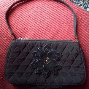Vera Bradley black cloth purse